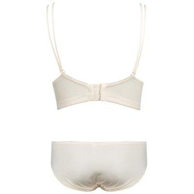 Double Strap Embroidered Push Up Bra SetLingerie &amp; Shapewear<br>Double Strap Embroidered Push Up Bra Set<br><br>Bra Style: Push Up<br>Closure Style: Three Hook-and-eye<br>Cup Shape: Three Quarters(3/4 Cup)<br>Embellishment: Embroidery<br>Materials: Cotton, Nylon, Spandex<br>Package Contents: 1 x Bra  1 x Briefs<br>Pattern Type: Solid<br>Strap Type: Adjusted-straps<br>Style: Everyday<br>Support Type: Underwire<br>Weight: 0.1800kg