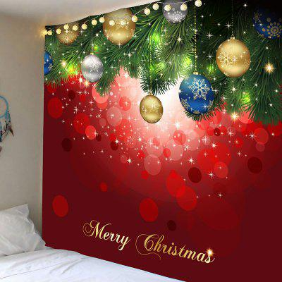 Wall Art Christmas Hanging Balls Pattern Tapestry