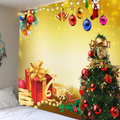 Christmas Tree Decorations And Gifts Pattern Wall Tapestry