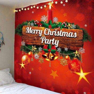 Merry Christmas Candle Printed Wall Tapestry