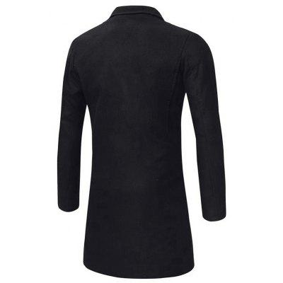 Turndown Breasted Peacoat Double Longline Collar xr6R0Hwqr