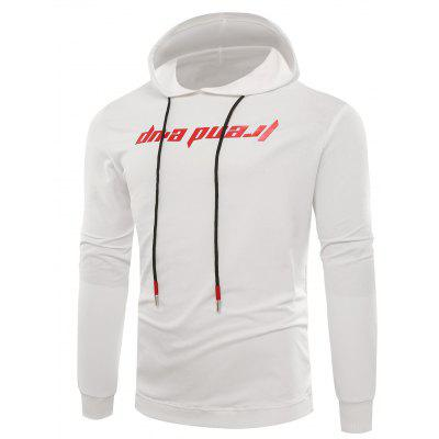 Hooded Graphic Print Pullover Hoodie
