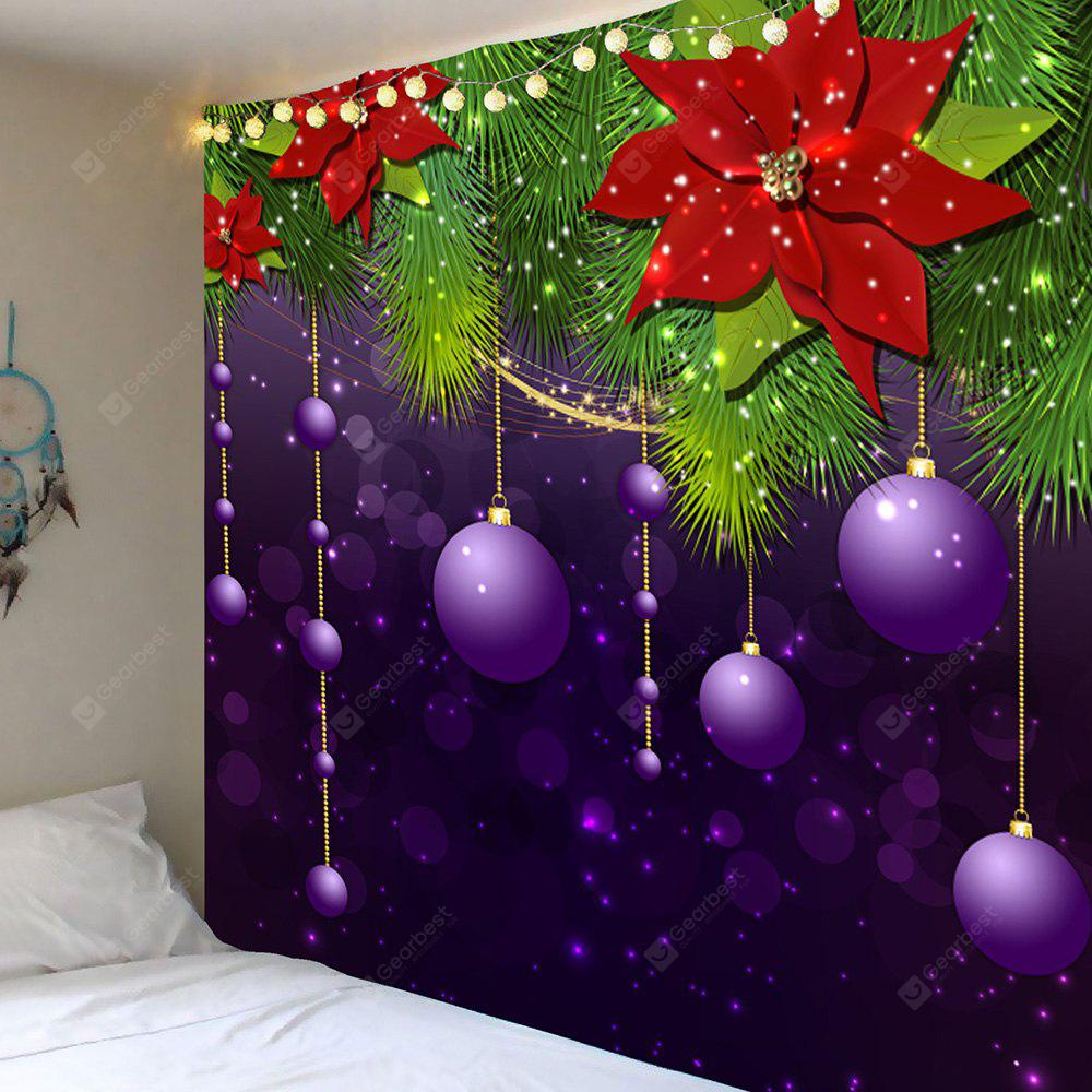 Christmas Hanging Balls Patterned Wall Art Tapestry