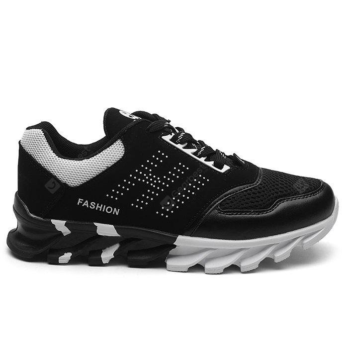 Mesh Panels Color Block Running Sneakers