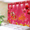 Santa Claus and Sleigh Printed Wall Hanging Tapestry - TUTTI FRUTTI