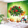 Christmas Presents Printed Wall Hanging Tapestry - GREEN