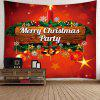 Merry Christmas Candle Printed Wall Tapestry - RED