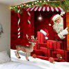 Red Santa Claus Printed Wall Hanging Tapestry - RED