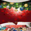 Wall Art Christmas Hanging Balls Pattern Tapestry - RED AND GREEN