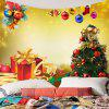 Christmas Tree Decorations And Gifts Pattern Wall Tapestry - GOLDEN