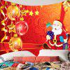 Baubles and Star Hangings Pattern Wall Decor Tapestry - RED