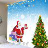 Snows Santa Pattern Wall Hanging Tapestry - COLORFUL