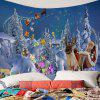 Envio de Presentes Papai Noel Pattern Wall Decor Tapestry - AZUL CLARO