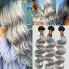 Chinese 7A Virgin Body Wave Human Hair Weaves - BLACK GREY
