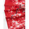 Vintage Lace Insert Printed Christmas Pin Up Dress - RED