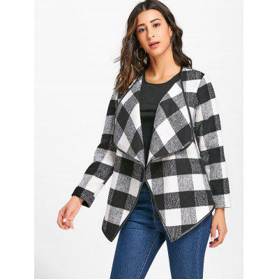 Turn-down Collar Plaid JacketJackets &amp; Coats<br>Turn-down Collar Plaid Jacket<br><br>Clothes Type: Jackets<br>Collar: Turn-down Collar<br>Material: Polyester, Cotton<br>Package Contents: 1 x Jacket<br>Pattern Type: Plaid<br>Season: Fall, Spring<br>Shirt Length: Regular<br>Sleeve Length: Full<br>Style: Fashion<br>Type: Wide-waisted<br>Weight: 0.5500kg
