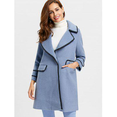 Pockets Piping Wool Blend Coat