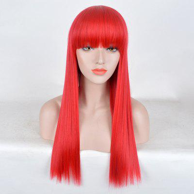 Long Full Bang Straight Synthetic Party Wig