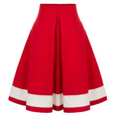 Buttoned High Waisted Midi Pleated SkirtSkirts<br>Buttoned High Waisted Midi Pleated Skirt<br><br>Embellishment: Button<br>Length: Mid-Calf<br>Material: Polyester, Spandex<br>Package Contents: 1 x Skirt<br>Pattern Type: Patchwork<br>Season: Fall, Spring<br>Silhouette: A-Line<br>Weight: 0.2000kg