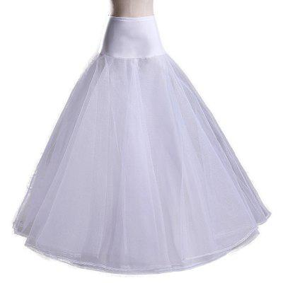 Zaful Women Wedding Dress Two Layers Petticoat