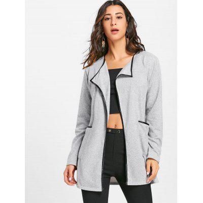Open Front Contrast Bordure Pockets CardiganSweaters &amp; Cardigans<br>Open Front Contrast Bordure Pockets Cardigan<br><br>Collar: Turn-down Collar<br>Material: Acrylic<br>Package Contents: 1 x Cardigan<br>Pattern Type: Solid<br>Season: Fall, Spring<br>Sleeve Length: Full<br>Style: Casual<br>Type: Cardigans<br>Weight: 0.3600kg