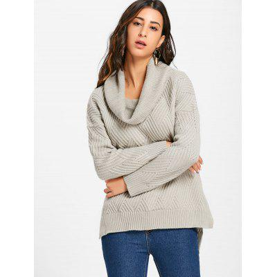 Dropped Shoulder Slit Cowl Neck SweaterSweaters &amp; Cardigans<br>Dropped Shoulder Slit Cowl Neck Sweater<br><br>Collar: Cowl Neck<br>Embellishment: Slit<br>Material: Acrylic<br>Package Contents: 1 x Sweater<br>Pattern Type: Solid<br>Season: Fall, Spring, Winter<br>Sleeve Length: Full<br>Style: Fashion<br>Type: Pullovers<br>Weight: 0.5700kg