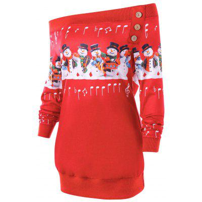 Christmas Plus Size Snowman Off The Shoulder SweatshirtPlus Size<br>Christmas Plus Size Snowman Off The Shoulder Sweatshirt<br><br>Embellishment: Button<br>Material: Polyester, Spandex<br>Package Contents: 1 x Sweatshirt<br>Pattern Style: Others<br>Season: Fall, Spring<br>Shirt Length: Long<br>Sleeve Length: Full<br>Style: Casual<br>Weight: 0.3300kg