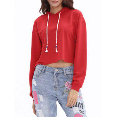 Drawstring Drop Shoulder Candy Color Crop HoodieSweatshirts &amp; Hoodies<br>Drawstring Drop Shoulder Candy Color Crop Hoodie<br><br>Material: Cotton, Polyester<br>Package Contents: 1 x Hoodie<br>Pattern Style: Solid<br>Season: Fall, Spring<br>Shirt Length: Short<br>Sleeve Length: Full<br>Style: Fashion<br>Weight: 0.4200kg