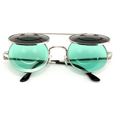 Funny Smiling Face Flip-open Round Shape SunglassesWomens Sunglasses<br>Funny Smiling Face Flip-open Round Shape Sunglasses<br><br>Frame Color: Silver<br>Frame Length: 14.1CM<br>Frame material: Other<br>Gender: For Women<br>Group: Adult<br>Lens height: 5.1CM<br>Lens material: Resin<br>Lens width: 5.1CM<br>Nose: 1.7CM<br>Package Contents: 1 x Sunglasses<br>Shape: Round<br>Style: Fashion<br>Temple Length: 13.4CM<br>Weight: 0.4000kg