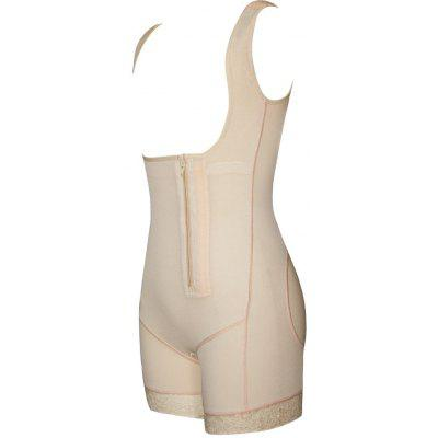 Zip Open Bust Lace Trim Shaping BodysuitLingerie &amp; Shapewear<br>Zip Open Bust Lace Trim Shaping Bodysuit<br><br>Embellishment: Lace,Zippers<br>Material: Cotton, Spandex<br>Package Contents: 1 x Bodysuit<br>Pattern Type: Solid<br>Weight: 0.2200kg