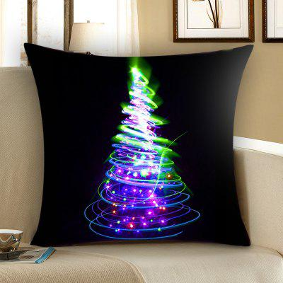 Colored Christmas Tree Pattern Throw Pillow Case