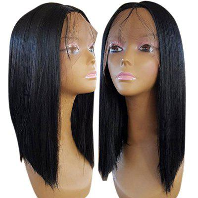 Medium Center Parting Straight Synthetic Lace Front Wig beauty peruvian straight lace front wig