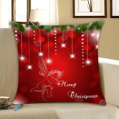 Christmas Baby Angel Print Linen Pillowcase