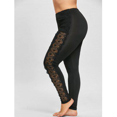 Plus Size Lace Applique LeggingsPlus Size<br>Plus Size Lace Applique Leggings<br><br>Closure Type: Elastic Waist<br>Embellishment: Lace<br>Fit Type: Skinny<br>Length: Normal<br>Material: Polyester<br>Package Contents: 1 x Leggings<br>Pant Style: Pencil Pants<br>Pattern Type: Round<br>Style: Fashion<br>Waist Type: Mid<br>Weight: 0.2600kg