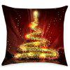 Christmas Sparkly Tree Print Linen Pillowcase - COLORFUL