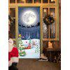 Moon Night Christmas Sled Pattern Door Art Stickers - COLORMIX