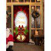 Christmas Bells Pattern Door Art Stickers - COLORMIX