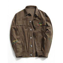 Corduroy Mens Button Up Jacket
