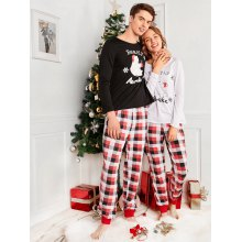 bear plaid family christmas pajama