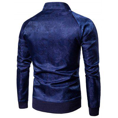 Raglan Sleeve Paisley Zip Up JacketMens Jackets &amp; Coats<br>Raglan Sleeve Paisley Zip Up Jacket<br><br>Closure Type: Zipper<br>Clothes Type: Jackets<br>Collar: Stand Collar<br>Material: Cotton, Polyester<br>Occasion: Holiday, Going Out, Daily Use, Casual<br>Package Contents: 1 x Jacket<br>Season: Winter, Fall<br>Shirt Length: Regular<br>Sleeve Length: Long Sleeves<br>Style: Streetwear, Fashion, Casual<br>Weight: 0.4900kg