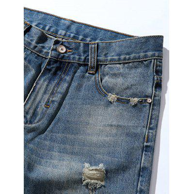 Tapered Fit Zip Fly Retro Distressed JeansMens Pants<br>Tapered Fit Zip Fly Retro Distressed Jeans<br><br>Closure Type: Zipper Fly<br>Fit Type: Regular<br>Material: Cotton, Rayon, Polyester<br>Package Contents: 1 x Jeans<br>Pant Length: Long Pants<br>Waist Type: Mid<br>Wash: Destroy Wash<br>Weight: 0.6500kg<br>With Belt: No