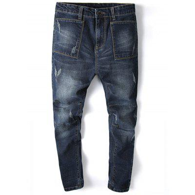 Tapered Fit Beam Feet Jogger Jeans