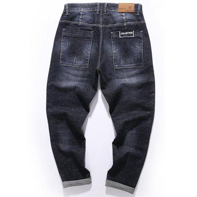Zip Fly Graphic Print Tapered Fit JeansMens Pants<br>Zip Fly Graphic Print Tapered Fit Jeans<br><br>Closure Type: Zipper Fly<br>Fit Type: Regular<br>Material: Cotton, Rayon, Polyester<br>Package Contents: 1 x Jeans<br>Pant Length: Long Pants<br>Waist Type: Mid<br>Wash: Dark<br>Weight: 0.6500kg<br>With Belt: No