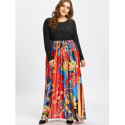 Paisley Printed Plus Size Long Sleeve Maxi DressPlus Size Dresses<br>Paisley Printed Plus Size Long Sleeve Maxi Dress<br><br>Dresses Length: Floor-Length<br>Material: Cotton Blend, Polyester<br>Neckline: Scoop Neck<br>Package Contents: 1 x Dress<br>Pattern Type: Paisley, Print<br>Season: Winter, Fall<br>Silhouette: Beach<br>Sleeve Length: Long Sleeves<br>Style: Casual<br>Waist: Empire<br>Weight: 0.6700kg<br>With Belt: No
