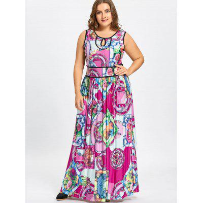 Tribal Pattern Plus Size Maxi  Keyhole Jersey DressPlus Size Dresses<br>Tribal Pattern Plus Size Maxi  Keyhole Jersey Dress<br><br>Dresses Length: Floor-Length<br>Embellishment: Cut Out,Hole<br>Material: Polyester<br>Neckline: Scoop Neck<br>Package Contents: 1 x Dress<br>Pattern Type: Tribal Print, Graphic, Geometric<br>Season: Fall, Spring<br>Silhouette: Beach<br>Sleeve Length: Sleeveless<br>Style: Bohemian<br>Weight: 0.6200kg<br>With Belt: No