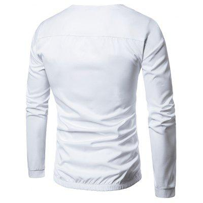 Crew Neck Elastic Waist Long Sleeve T-shirtMens Long Sleeves Tees<br>Crew Neck Elastic Waist Long Sleeve T-shirt<br><br>Collar: Crew Neck<br>Embellishment: Pockets<br>Material: Cotton, Polyester<br>Package Contents: 1 x T-shirt<br>Pattern Type: Solid<br>Season: Fall, Winter<br>Sleeve Length: Full<br>Style: Fashion, Casual, Streetwear<br>Weight: 0.2900kg