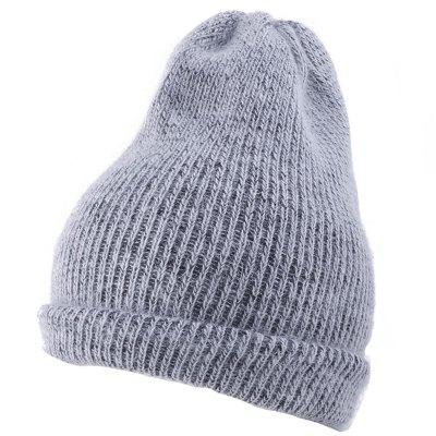 Outdoor Flanging Embellished Crochet Knitted Beanie
