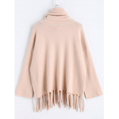 Turtleneck Fringed Oversized Pullover SweaterSweaters &amp; Cardigans<br>Turtleneck Fringed Oversized Pullover Sweater<br><br>Collar: Turtleneck<br>Material: Acrylic, Cotton, Polyester<br>Package Contents: 1 x Sweater<br>Pattern Type: Solid<br>Sleeve Length: Full<br>Style: Fashion<br>Type: Pullovers<br>Weight: 0.5100kg