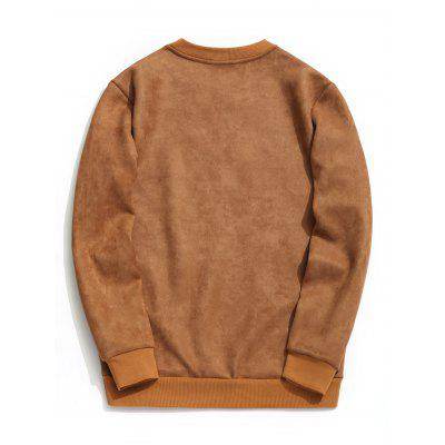 Crew Neck Suede Embroidered SweatshirtMens Hoodies &amp; Sweatshirts<br>Crew Neck Suede Embroidered Sweatshirt<br><br>Material: Cotton Blends, Polyester<br>Package Contents: 1 x Sweatshirt<br>Pattern Type: Others<br>Shirt Length: Regular<br>Sleeve Length: Full<br>Style: Fashion<br>Weight: 0.7700kg