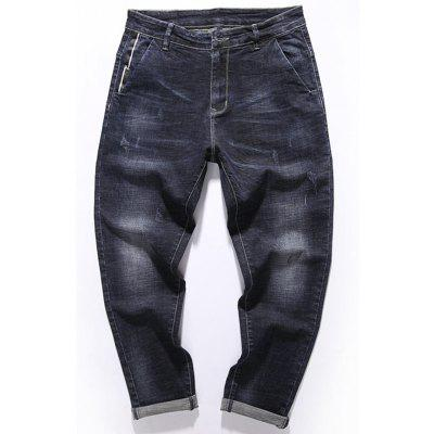 Zip Fly Tapered Fit Pockets Jeans